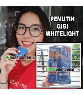 Whitening Teeth WhiteLight Original : Pemutih Gigi Permanen Dalam 2 Minggu