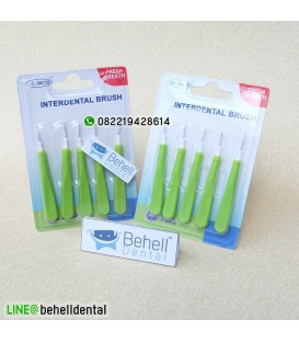 sikat interdental brush dr smith : sikat sela behel gigi