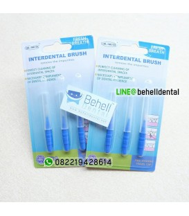 Sikat Sela Behel : Interdental Brush isi 3 Merk Dr Smith