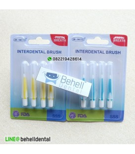 Sikat Sela Behel : Interdental Brush isi 4 Merk Dr Smith