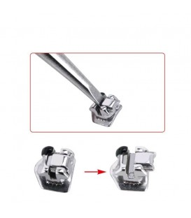 Pinset Sonde Pembuka Self Ligating Bracket Opener . Behel bracket damon