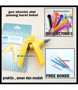 Gun Shooter : Alat Pasang Karet Behel Original Anti Patah