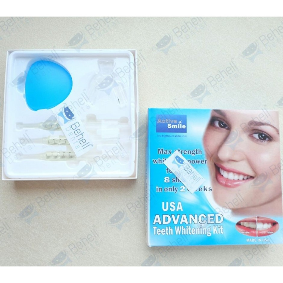 Pemutih Gigi : Active Smile teeth whitening home bleaching gel kit